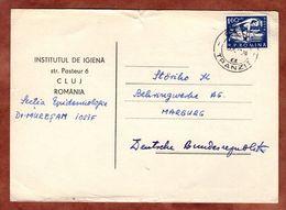 Karte, Laeufer Am Start, Cluj Nach Marburg 1967 (89418) - Briefe U. Dokumente