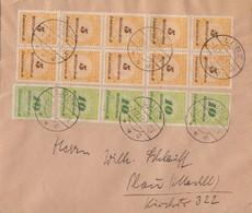 DR Brief Mif Minr.10x 327A, 5x 328 Lübz 7.12.23 - Deutschland