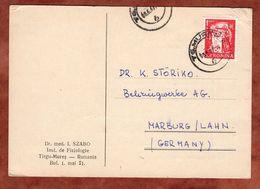 Karte, Kernreaktor, Tirgu-Mures Nach Marburg 1967 (89420) - Briefe U. Dokumente