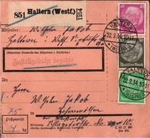 ! 1934 Paketkarte Deutsches Reich, Haltern In Westfalen Nach Hohenmölsen - Briefe U. Dokumente