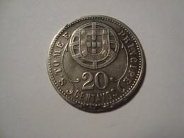 MONNAIE SAO TOME ET PRINCIPE 20 CENTAVOS 1929 - Sao Tome En Principe