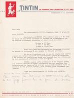 TINTIN LETTRE D'ABONNEMENT - Vecchi Documenti