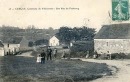 94 - Cerçay - Commune De Villecresnes - Une Rue Du Faubourg - Otros Municipios