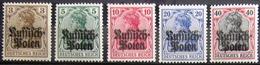 ALLEMAGNE Occupation En POLOGNE                   N° 1/5                        NEUF* - Occupation 1914-18