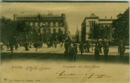 POLAND - BRESLAU / Wroclaw - GRAUPENST. MIT NEUER BORSE - EDIT DR. TRENKLER CO.  - MAILED TO ITALY 1904 (7005) - Poland