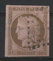 N°18 Cote 17 € COLONIES GENERALES 10ct Brun S/rose Type Cérès. Oblitéré. Voir Description - Cérès