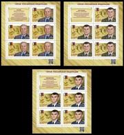 RUSSIA 2019 Sheet MNH VF ** Mi 2789-70 HERO HEROES Myasnikov Prokhorenko Valov AWARD UNIFORM 2568-70 - Blocs & Hojas