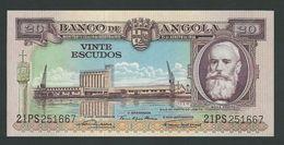 ANGOLA RARE 20 ESCUDOS 1956 UNC - Angola