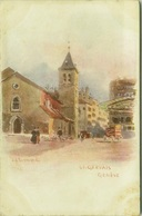 SWITZERLAND - J. REDMUND SIGNED 1900s LITHO POSTCARD - GENEVE - ST. GERVAIS - EDIT VOUGA & C. (7021) - GE Geneva