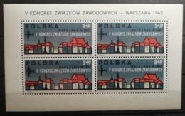 Pologne 1962 Y&T BF N°35 / ** / 5ème Congrès Des Syndicats Ouvriers à Varsovie - Blocs & Feuillets