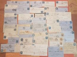 France - Lot De 50 Lettres Classiques - Majorité Avec Des  Bleus De France  - DEPART 1 EURO - Postmark Collection (Covers)