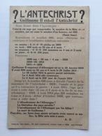 Ak Guillaume Il Est-il L'antechrist Anti Kaiser Wilhelm II - War 1914-18