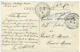 """BENEVENT-l'ABBAYE. Cachet """"Hôpital-Hospice Bénévent-l'Abbaye"""" Sur Carte Au Pays Marchois (1915). - Benevent L'Abbaye"""