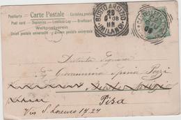 8597.    Da Castelletto Ticino Timbro Busto Arsizio   - 1908 - FP - 1900-44 Victor Emmanuel III