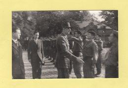 Carte Photo Liberation Du Mans 8 Aout 1944 - General De Gaulle Passe En Revue Les FFI Jardin Prefecture - Beroul - Le Mans