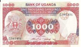 OUGANDA 1000 SHILLINGS 1986 UNC P 26 - Ouganda
