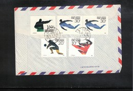 China  1991 Interesting Airmail Letter - Lettres & Documents