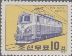 NORTH KOREA   -  1961 - RAIL ELECTRIFICATION MINT NEVER HINGED ,SG CAT  £18 - Korea, North