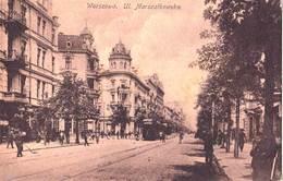 Carte Postale :  Warszawa (Varsovie)  Pologne  Ul  Marszalkowska     Tram    N° 4 - Poland