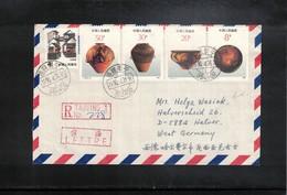 China  1990 Interesting Airmail Registered Letter - 1949 - ... République Populaire