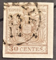 AUSTRIA / LOMBARDO-VENEZIA 1850/54 - VENEZIA Cancel - ANK LV4 - 30 Centes - Oblitérés