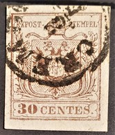 AUSTRIA / LOMBARDO-VENEZIA 1850/54 - CREMONA Cancel - ANK LV4 - 30 Centes - Used Stamps