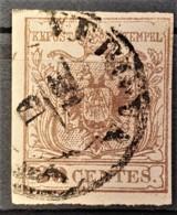 AUSTRIA / LOMBARDO-VENEZIA 1850/54 - VERONA Cancel - ANK LV4 - 30 Centes - Used Stamps