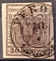 AUSTRIA / LOMBARDO-VENEZIA 1850/54 - VERONA Cancel - ANK LV4 - 30 Centes - 1850-1918 Imperium