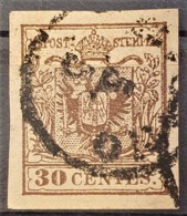 AUSTRIA / LOMBARDO-VENEZIA 1850/54 - ... Cancel - ANK LV4 - 30 Centes - Used Stamps