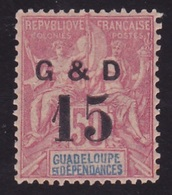 Guadeloupe N° 47 (a)  Neuf * - Voir Verso & Descriptif - - Neufs