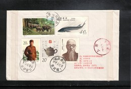 China  1998 Interesting Registered Letter - Lettres & Documents