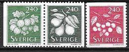 Suède 1993 N°1749/1751 Neufs Fruits - Nuevos