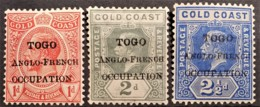 TOGO 1915 - MLH - YT 60, 61, 62 - 1d 2d 2.5d - Ungebraucht