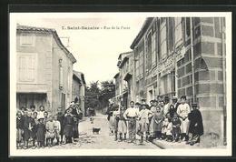 CPA Saint-Nazaire, Postes Et Telegraphe Dans Rue De La Poste - Frankrijk