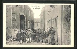 CPA Jonquères, La Grand`Rue, Partie Avec Des Enfants - Frankrijk