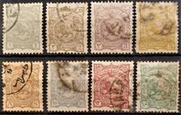 PERSIA 1898 - Canceled - Sc# 104, 105, 106, 108, 109, 110, 111, 112 - Irán