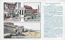 35 Département D'Ile Et Vilaine La France Qu'il Faut Connaitre Edition Spéciale Pastilles Valda (2 Scans) - Zonder Classificatie