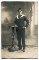 Photo Carte Soldat Militaire MARIN →Verso Torpilleurs De BREST 16.3.1915 - Regimenten