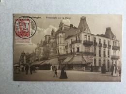 BLANKENBERGE  BLANKENBERGHE PROMENADE SUR LA DIGUE  1913 - Blankenberge