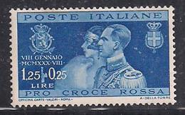 REGNO D'ITALIA   1930   NOZZE PRINCIPE UMBERTO    SASS. 271 MLH VF - Nuovi