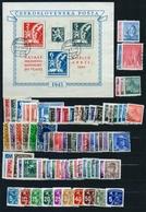 1945 Full Year - Fine Used - Checoslovaquia