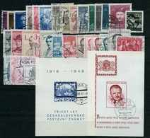 1948 Full Year - Fine Used - Checoslovaquia