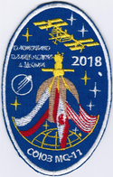Human Space Flights Soyuz MS-11 #2 Antares Russia Embroidered Patch - Patches