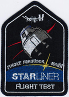 Human Space Flights CST-100 Boe-CFT Starliner Flight Test USA Embroidered Patch - Patches