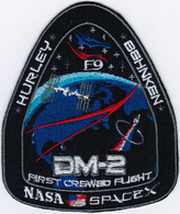 Human Space Flights Dragon SpX-DM2 First Crewed Flight Spacex Nasa F9 USA Patch - Patches