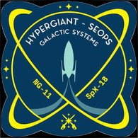 ISS Expedition 60 Dragon Spx-18 MG-11 Hypergiant - SEOPS Galactic Systems International Space Station Embroidered Patch - Patches