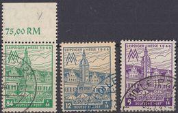 SASSONIA OCCIDENTALE - 1946 - Lotto Di Tre Valori Usati: Yvert 37, 38 E 40, Come Da Immagine. - Zona Sovietica
