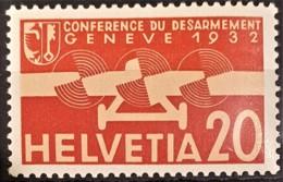 SWITZERLAND 1932 - MLH - Sc# C17 - Airmail 20r - Posta Aerea