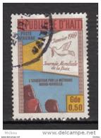 ##5, Haïtie, Haitia, Journée Mondiale De La Paix, Colombe, Dove, éducation, Audio-visuel, Bird, Poste Aérienne, Airmail - Haïti