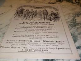ANCIENNE PUBLICITE BANDES MOLLETIERES ST HUBERT 1917 - 1914-18